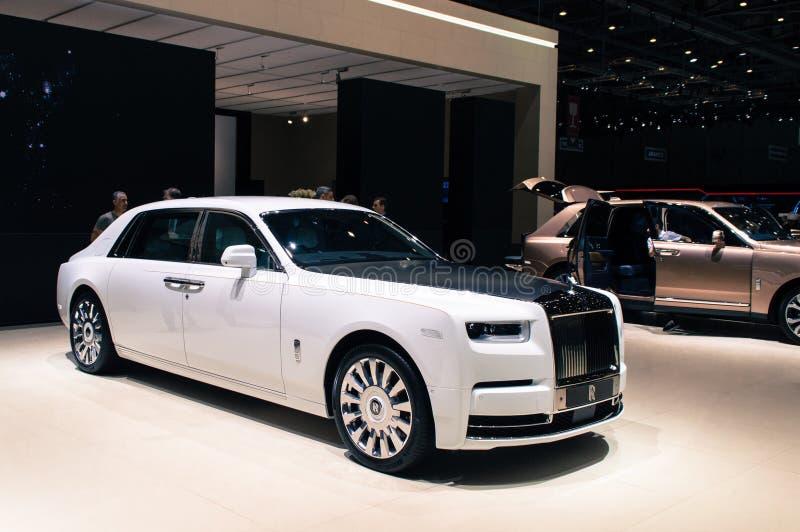 Rolls Royce Phantom em Genebra 2019 fotografia de stock royalty free