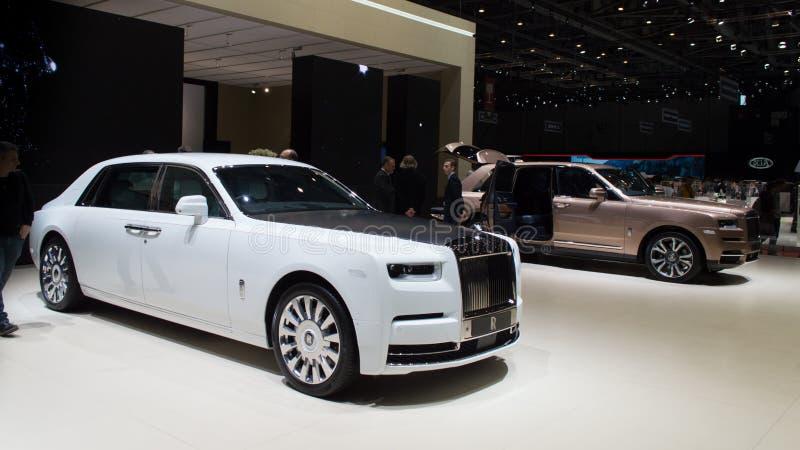 Rolls Royce Phantom em Genebra 2019 imagem de stock royalty free