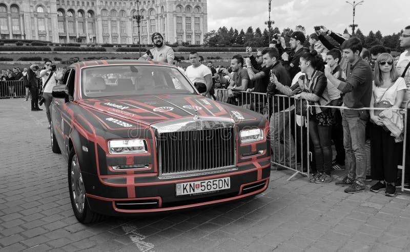 Rolls-Royce Phantom EWB - Gumball 3000 - 2016 edición - Dublín a Bucarest imagen de archivo libre de regalías