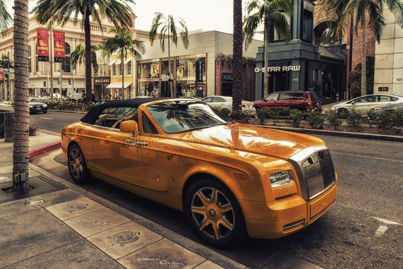 Rolls-Royce Phantom i Beverly Hills Los Angeles California USA royaltyfria foton