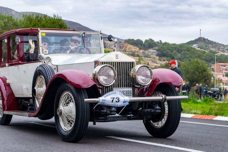 Rolls Royce Phantom, rallye internacional Barcelona - Sitges do carro do vintage da edição do Th 60 imagem de stock