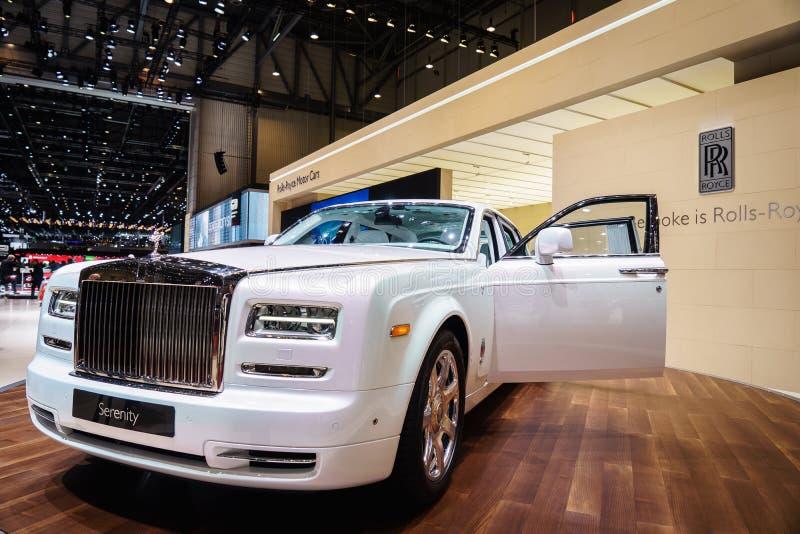 Rolls Royce Phantom Serenity, motorisk show Geneve 201 royaltyfria bilder