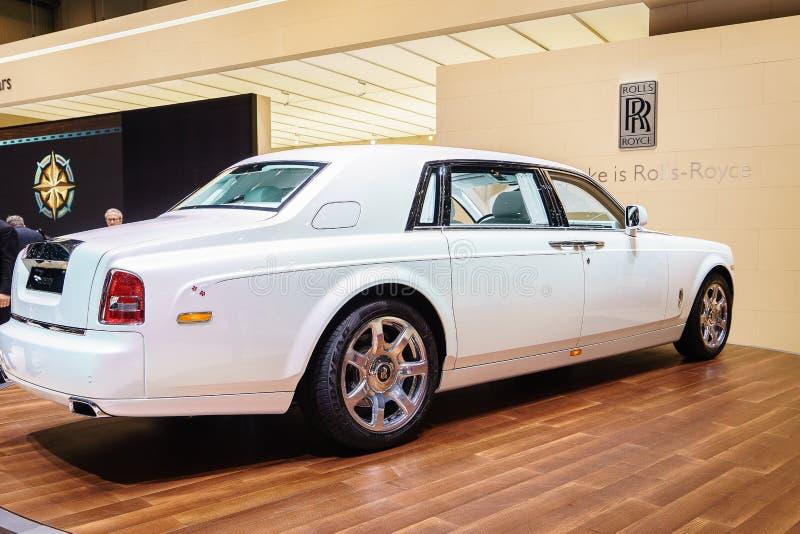 Rolls Royce Phantom Serenity, motorisk show Geneve 201 arkivfoton