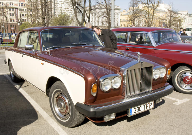 Rolls royce retro imagens de stock royalty free