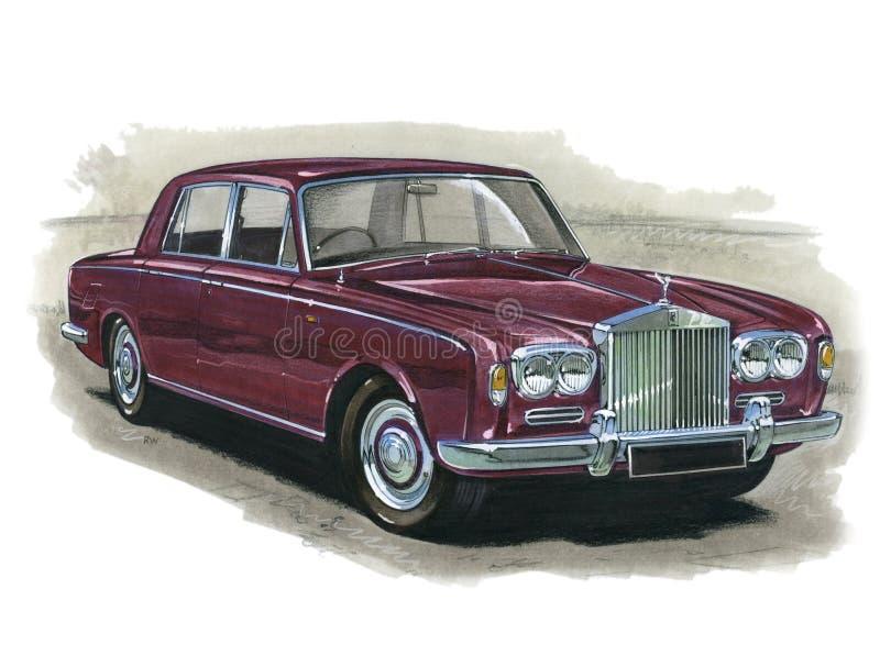 Rolls Royce Silver Shadow. Illustration of a Rolls Royce Silver Shadow royalty free illustration