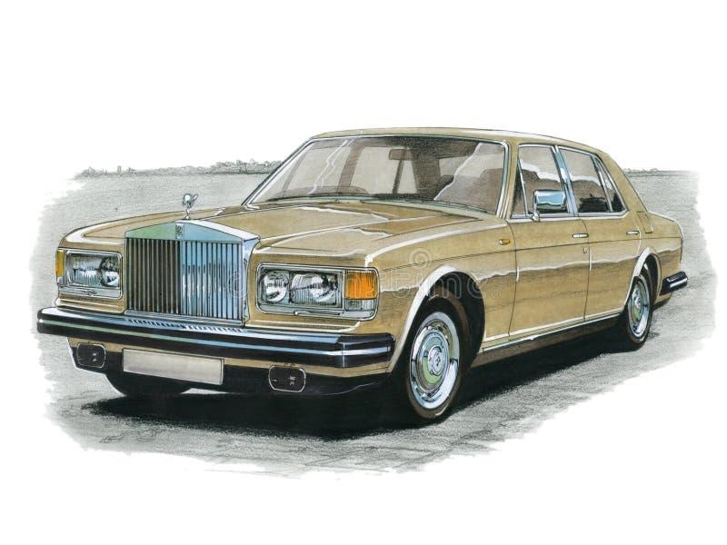Rolls Royce Silver Spirit vektor illustrationer