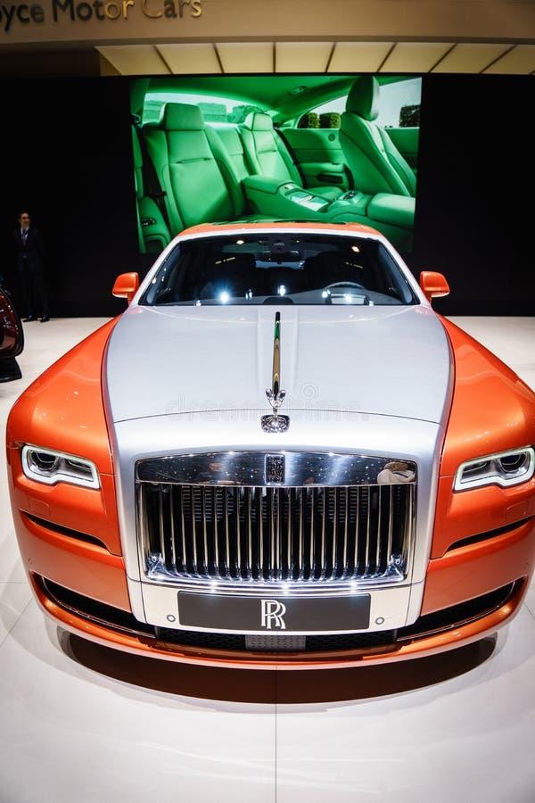 Rolls Royce-Spook, Motorshow Geneve 2015 stock foto's