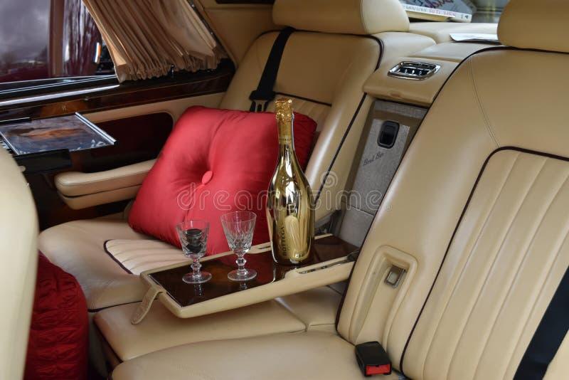 Rolls Royce srebra ostroga II wnętrze obrazy royalty free