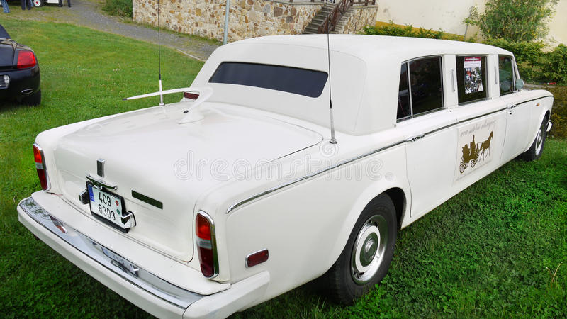 Rolls Royce, Wedding Limousine stock photos