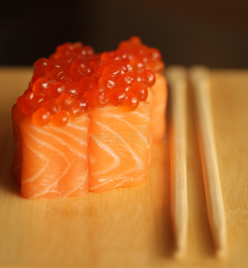 Download Rolls With Salmon And Red Caviar Stock Image - Image of food, prepared: 39509239