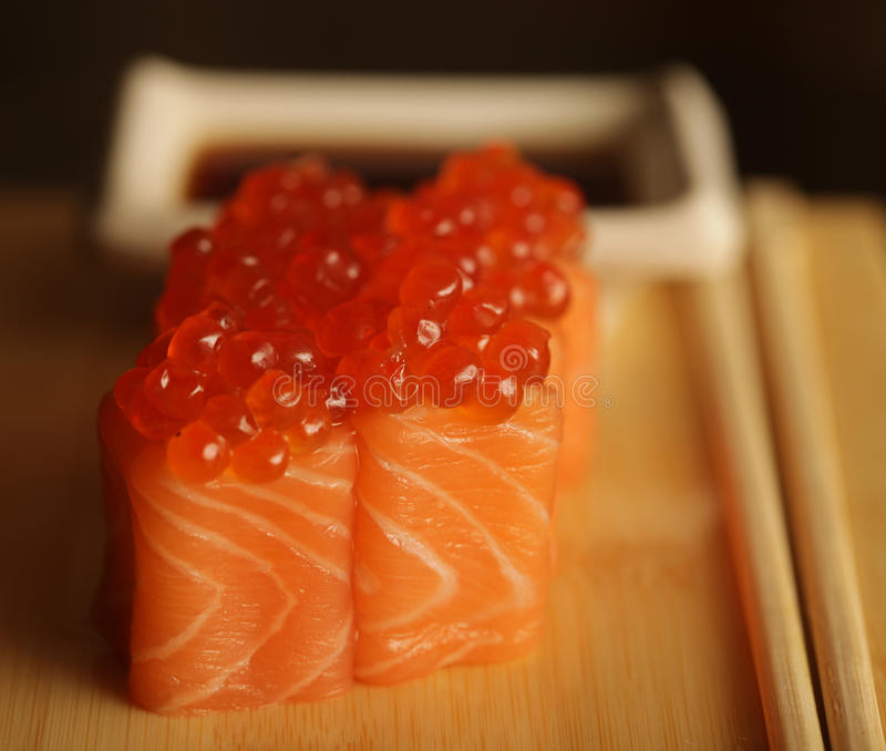 Download Rolls With Salmon And Red Caviar Stock Image - Image: 39903441