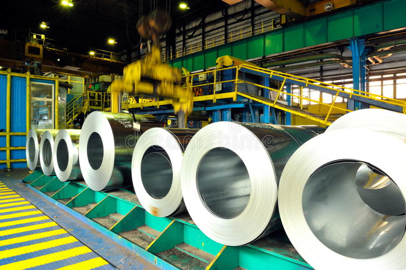 Download Rolls of steel sheet stock image. Image of metallic, packed - 10251747