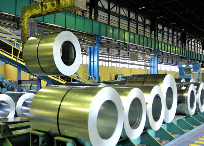 Rolls of steel sheet royalty free stock image