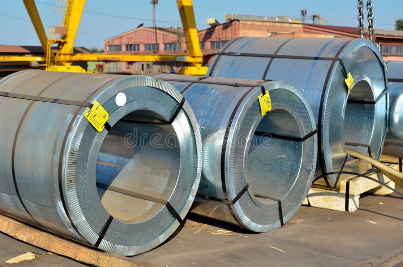 Download Rolls of steel sheet stock photo. Image of heavy, tough - 26386682