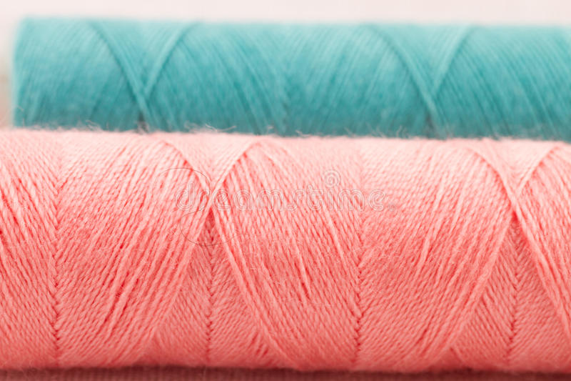 Rolls of thread stock photo