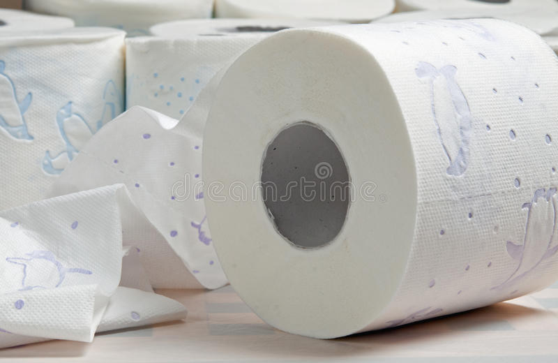 Rolls of Toilet Paper royalty free stock photo