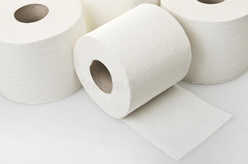 Download Rolls of toilet paper stock photo. Image of cutout, product - 31367448