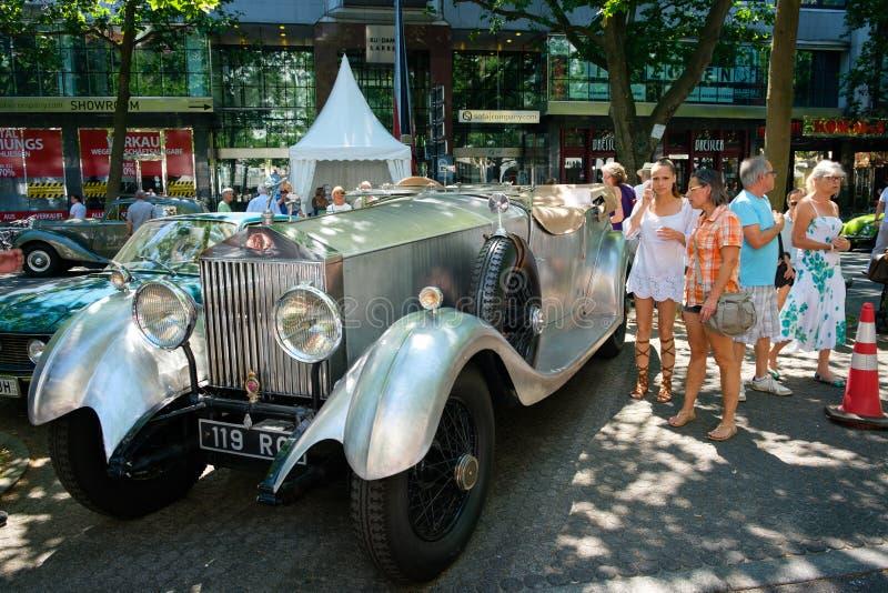 Rolls velho Royce Phantom em Berlin Classic Days, um autom do Oldtimer foto de stock royalty free