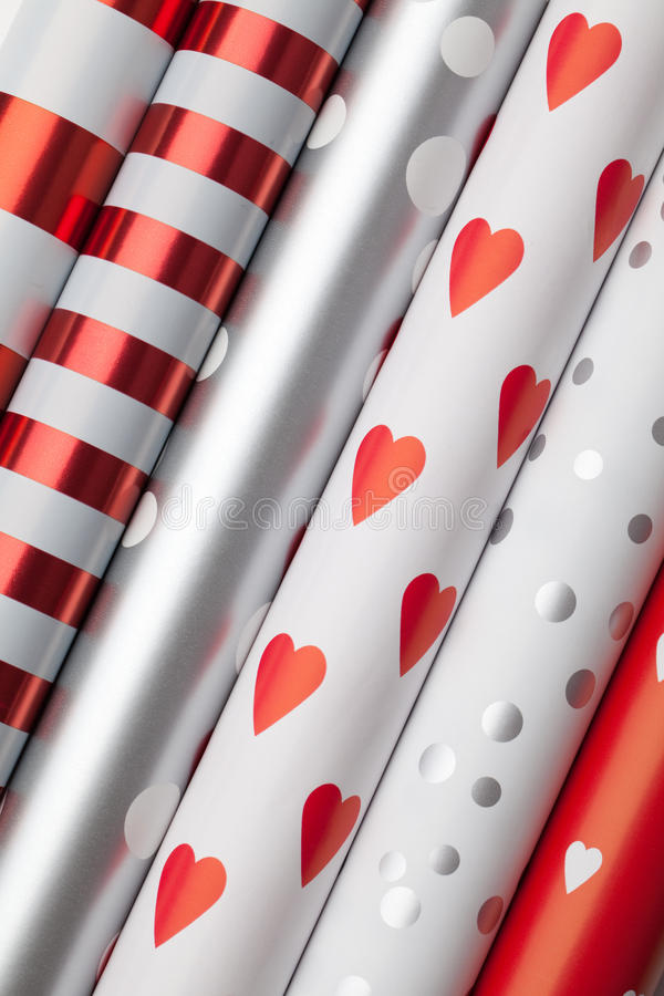 Download Rolls of wrapping paper stock photo. Image of season - 12250968