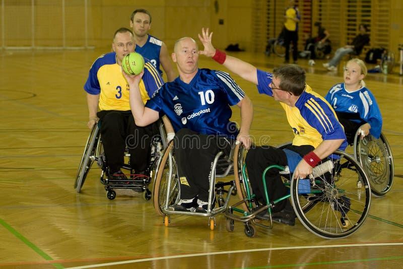 Rollstuhl-Handball-Ereignis 2008 stockfoto