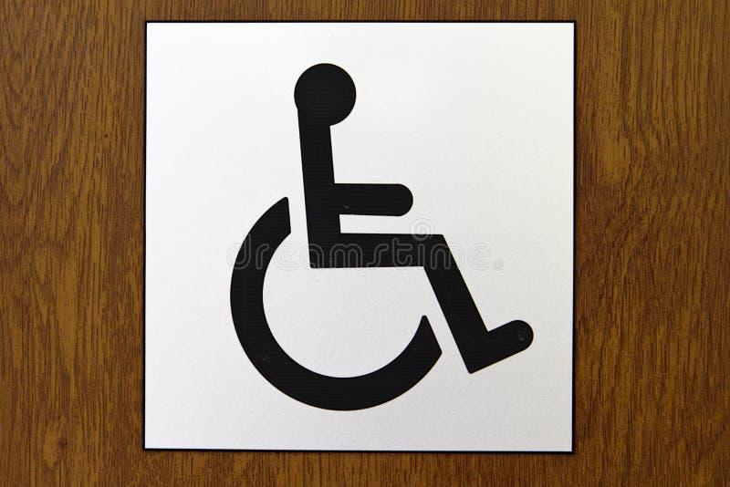 Rollstuhl-zugängliches Zeichen stockbild