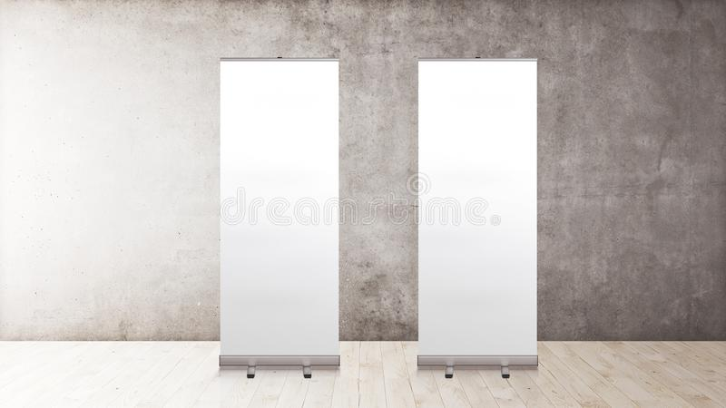 Exhibition Stand Mockup Free Download : Rollup banners stand blank template mockup exhibition