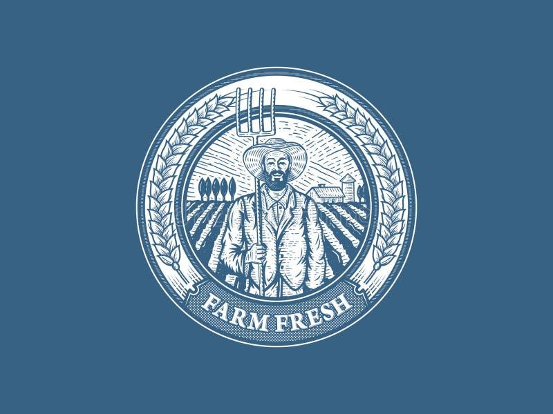 Rolna Świeża odznaka royalty ilustracja