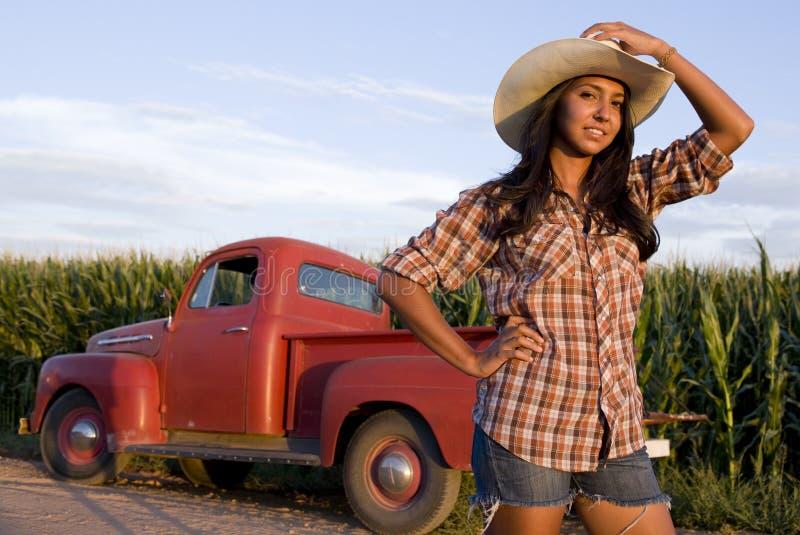 rolna dziewczyna obrazy royalty free