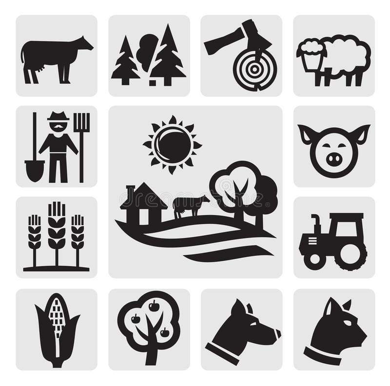 Rolna ikona ilustracja wektor