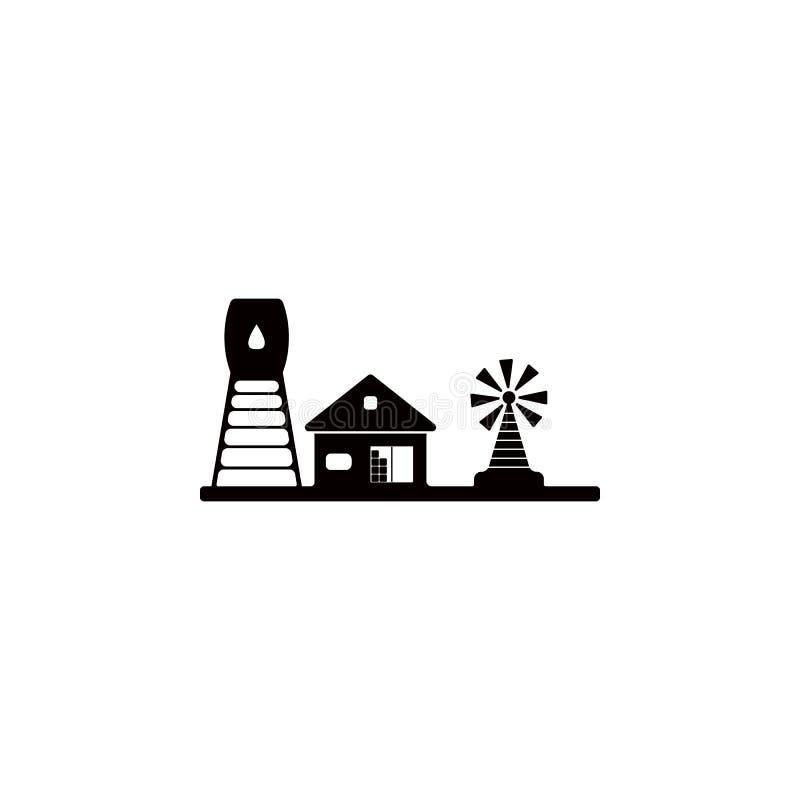 Rolna ikona Element gospodarstwo rolne dla mobilnych pojęcia i sieci apps Ikona dla strona internetowa projekta i rozwoju, app ro ilustracja wektor