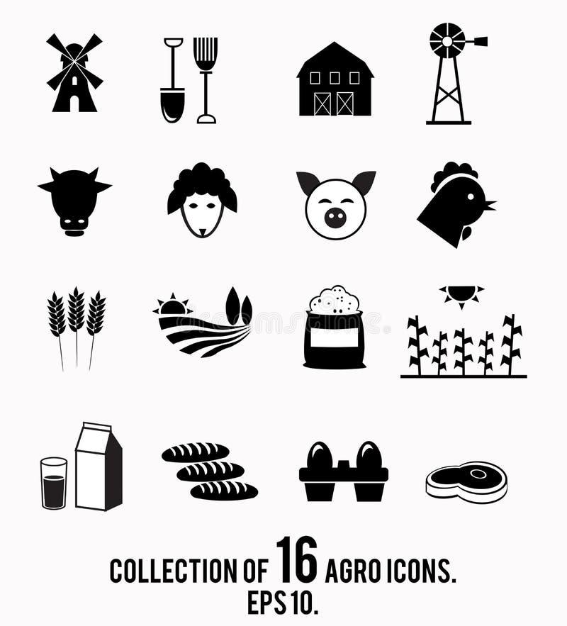 Rolna ikony kolekcja ilustracja wektor