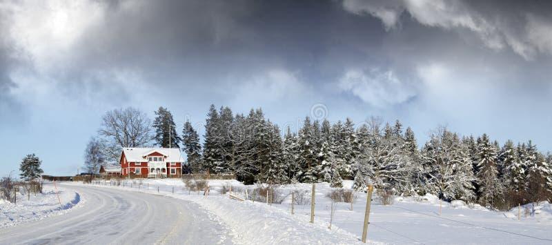 rolna mała śnieżna zima zdjęcia stock