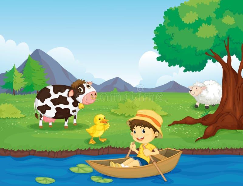 rolna scena ilustracji
