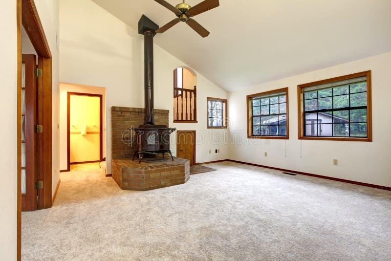 Rolnego domu pusty żywy pokój fotografia stock