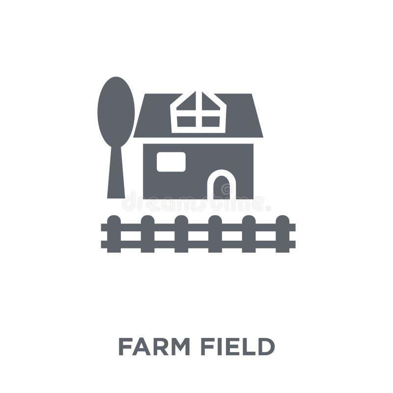 rolnego pola ikona od rolnictwa Uprawia ziemię collecti i Uprawia ogródek, ilustracji