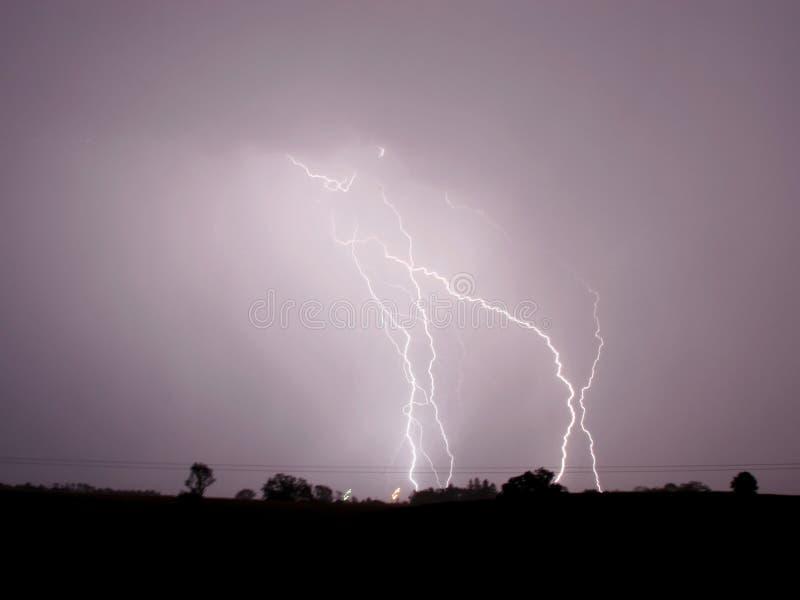 rolnej sworzniowa burza elektryczna obraz royalty free