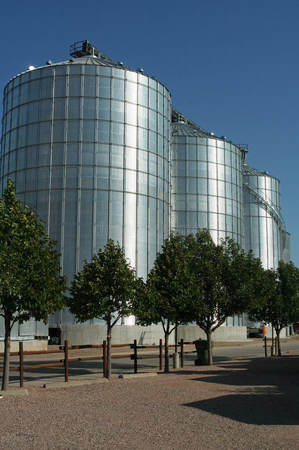 rolni silosy fotografia stock