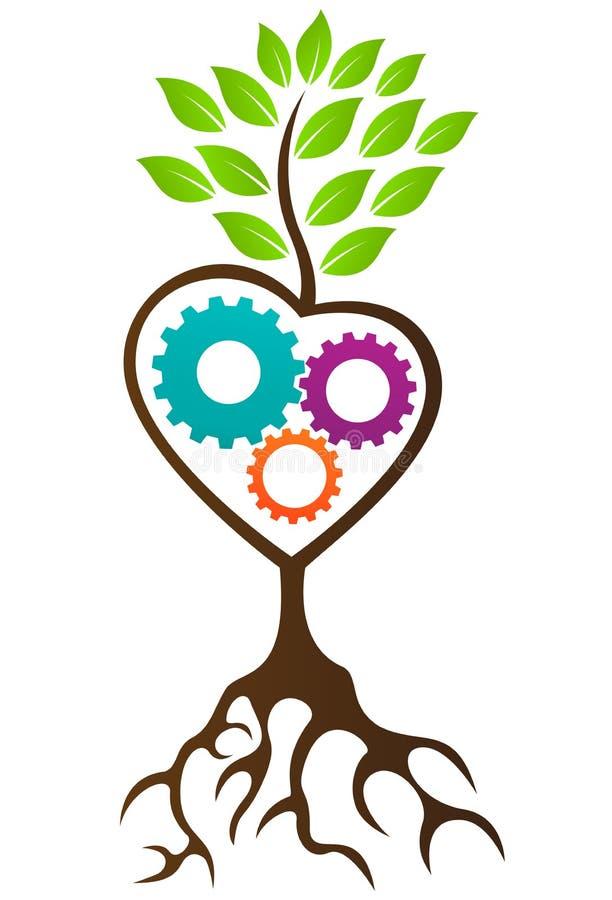 Rolnictwa drzewa logo royalty ilustracja
