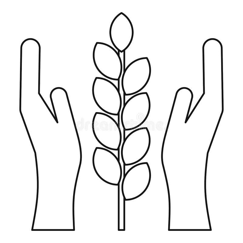Rolnictwa pojęcia asekuracyjna ikona, konturu styl royalty ilustracja
