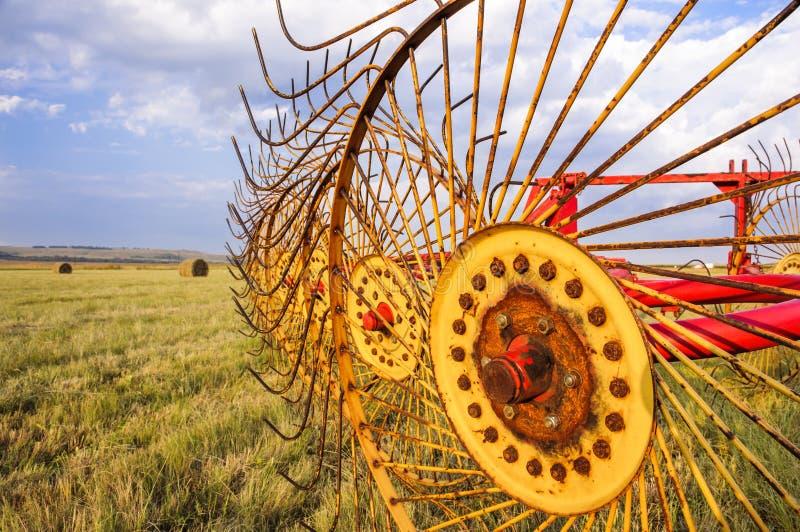 Rolnictwa siana świntucha maszyna dla bel obrazy royalty free