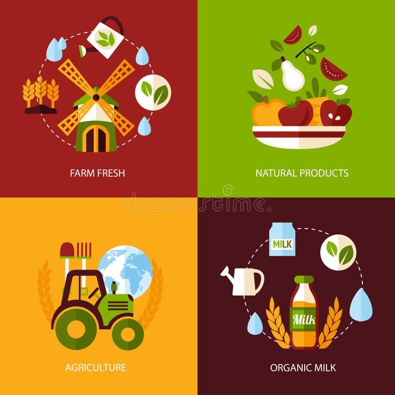 Rolnictwo ikony set ilustracja wektor