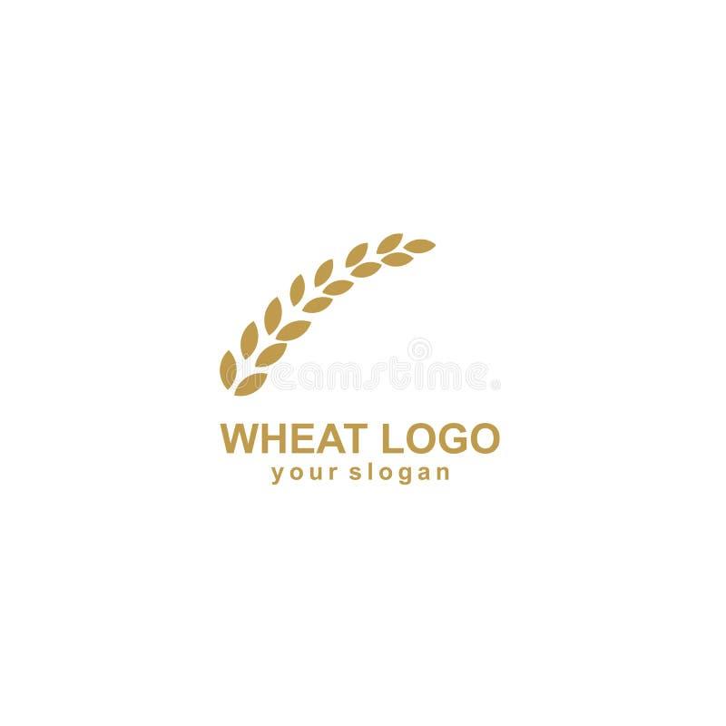 Rolnictwo loga pszenicznego szablonu ikony wektorowy projekt ilustracji