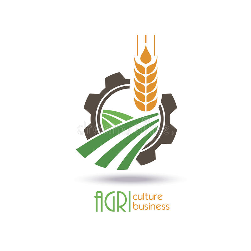 Rolnictwo loga szablonu projekt Ikona, znak ilustracja wektor