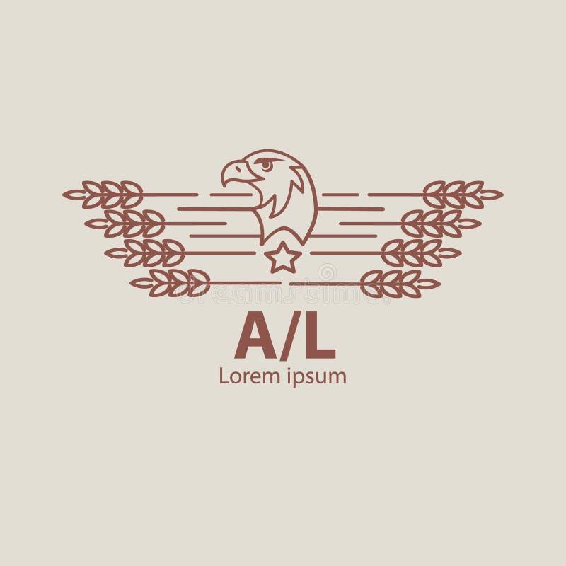 Rolnictwo orła logo ilustracja wektor