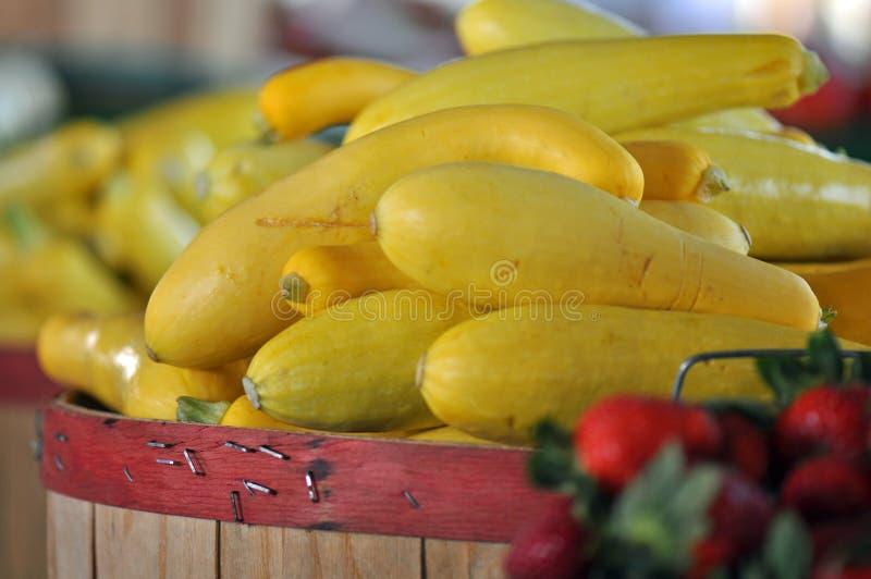Rolnicy Wprowadzać na rynek kabaczka zdjęcia royalty free
