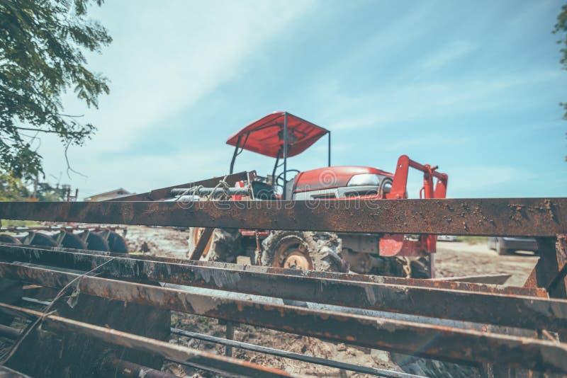 Rolnicza maszyneria Elementy i części technologia Zbliżenie ciągnik fotografia stock