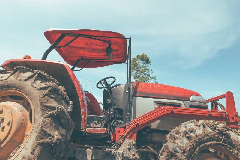 Rolnicza maszyneria Elementy i części technologia Zbliżenie ciągnik zdjęcie royalty free