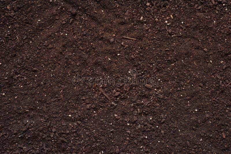 Rolniczej glebowej tekstury odgórny widok zdjęcie royalty free