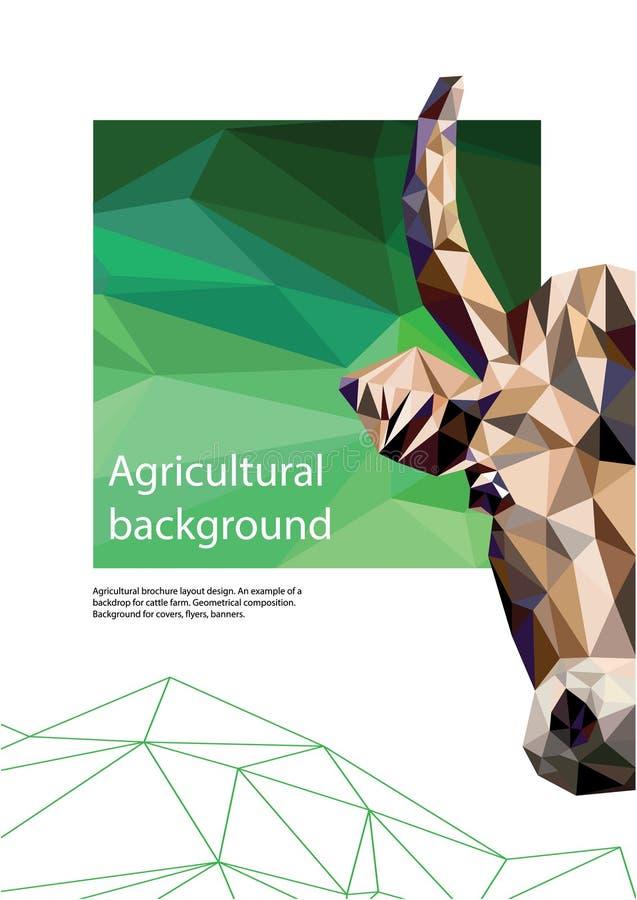 Rolniczy broszurka układu projekt geometrical sk?ad Tło dla pokryw, ulotki, sztandary royalty ilustracja