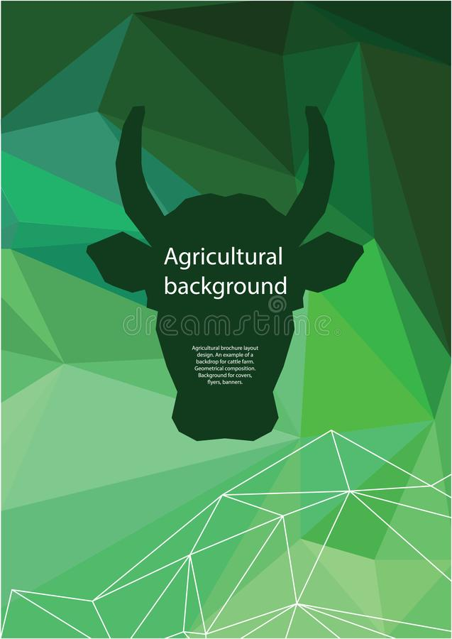 Rolniczy broszurka układu projekt geometrical sk?ad Tło dla pokryw, ulotki, sztandary ilustracji